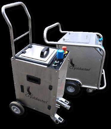 Exemples de machines de nettoyage cryogénique 100% pneuamtique et électro-pneumatique