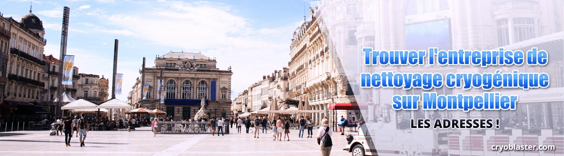 Bannière nettoyage cryogénique Montpellier