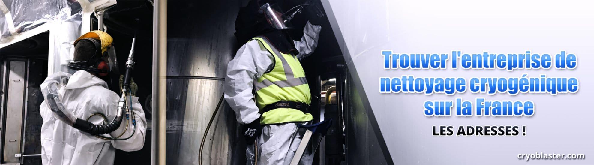 Nettoyage cryogénique en France : le réseau
