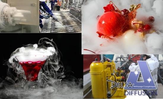 Exemples d'applications de glace carbonique en isère