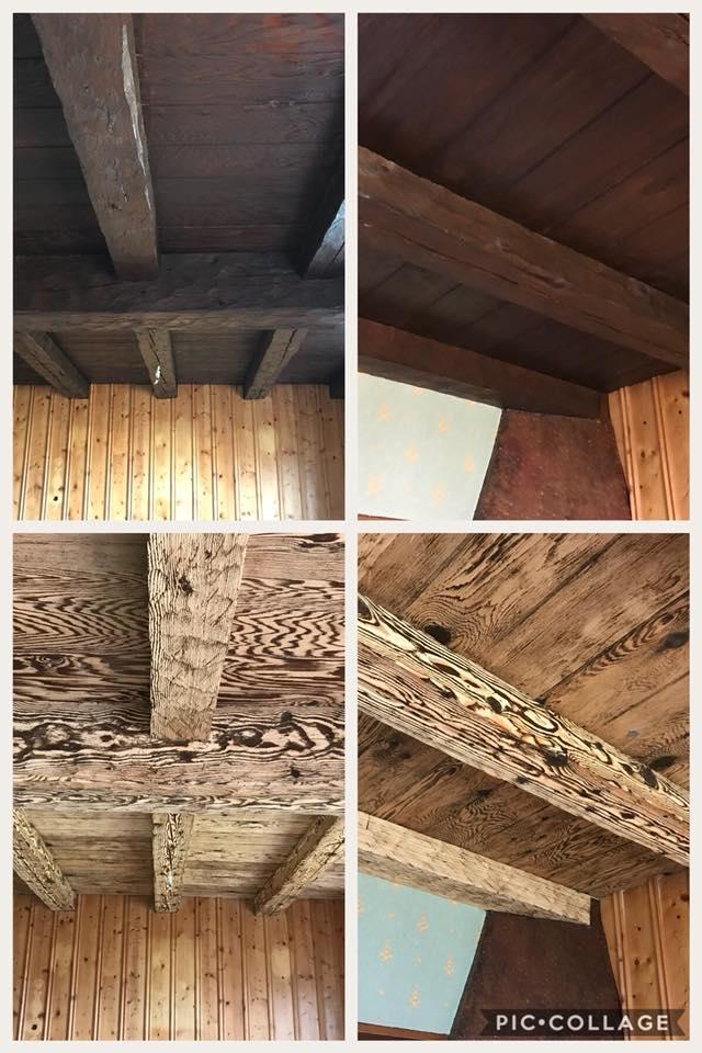 Décapage charpente de bois à Fuans