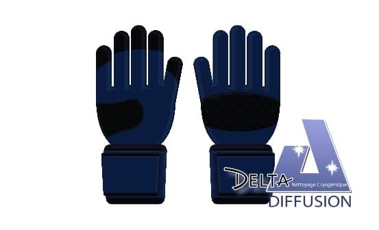 glace carbonique: port des gants obligatoire !