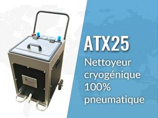 Équipement de projection de glace  carbonique ATX25