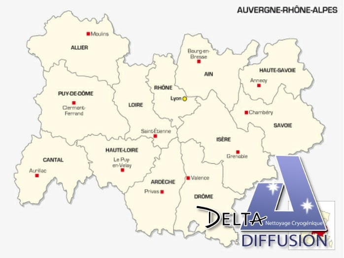 Les fournisseurs de glace carbonique en Auvergne-Rhône-Alpes