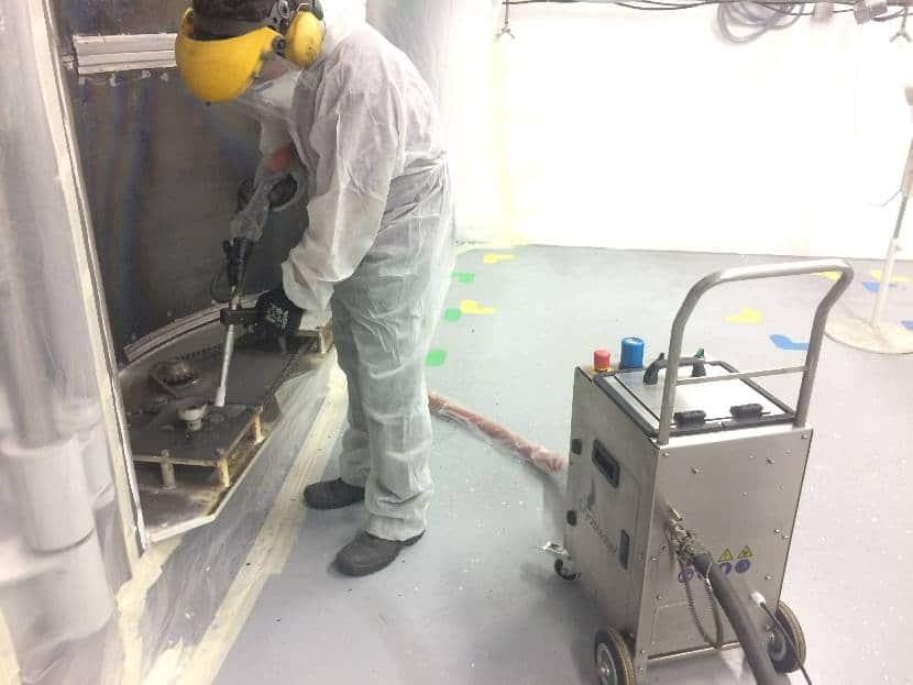 Dry ice blasting application with ATX Nano