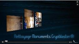 Nettoyage cryogénique sur monument
